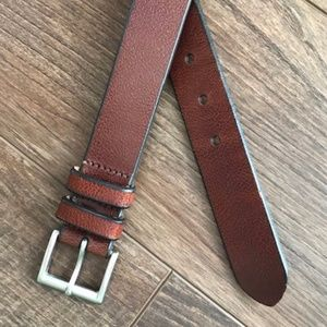 Structure Mens Brown Leather Belt Sz 42